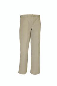 Boys Husky Flat Front Pants, Grades 9-12 (1019)