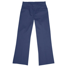 Girls Flat Front Pants, Half (Plus) Size (1002)