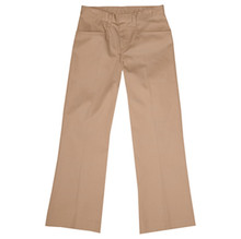 Girls Flat Front Pants, Half (Plus) Size (1007)