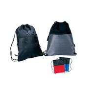 Drawstring Backpack W/ Zipper Pocket