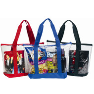 Clear Zipper Tote