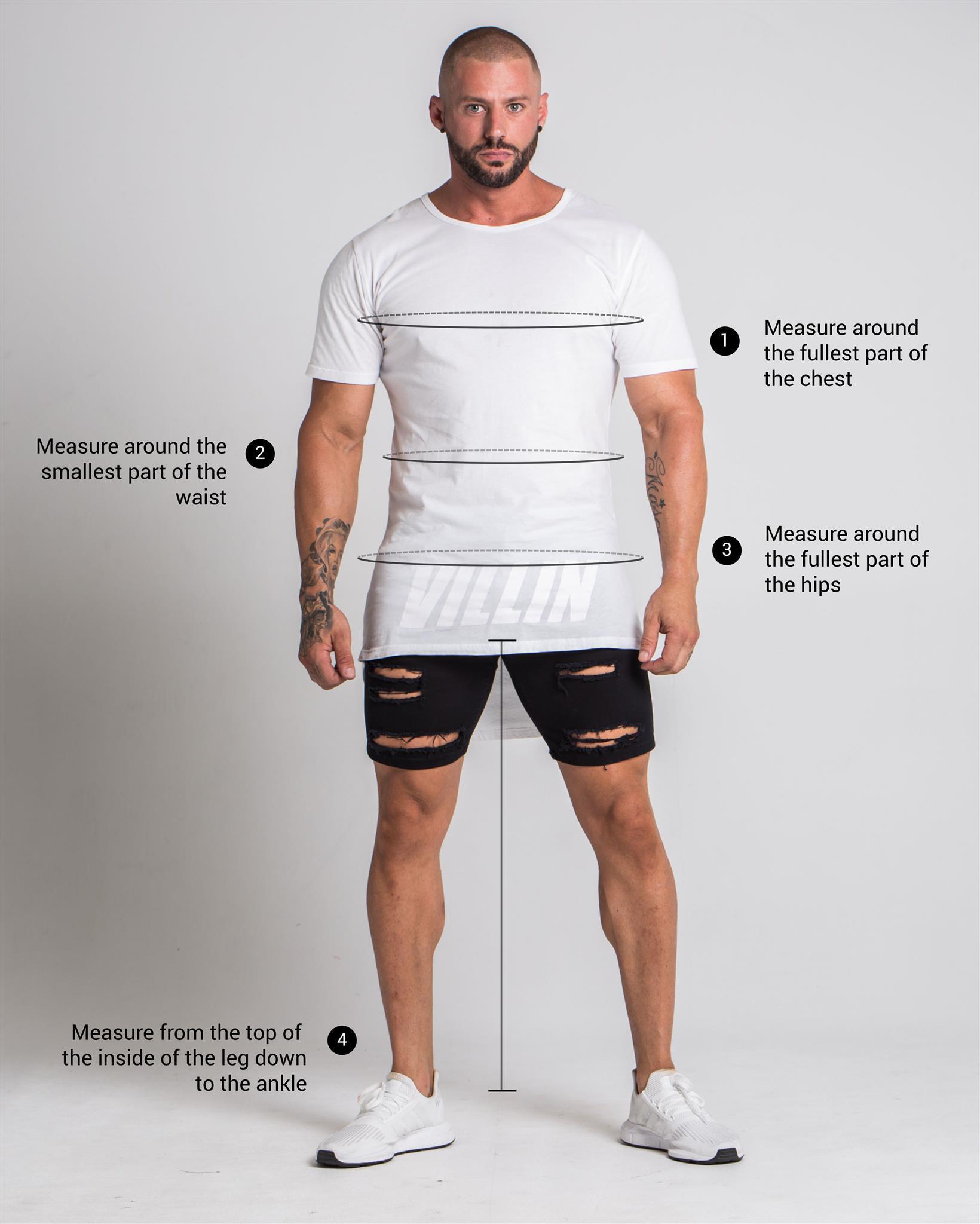 Villin Mens Size Guide