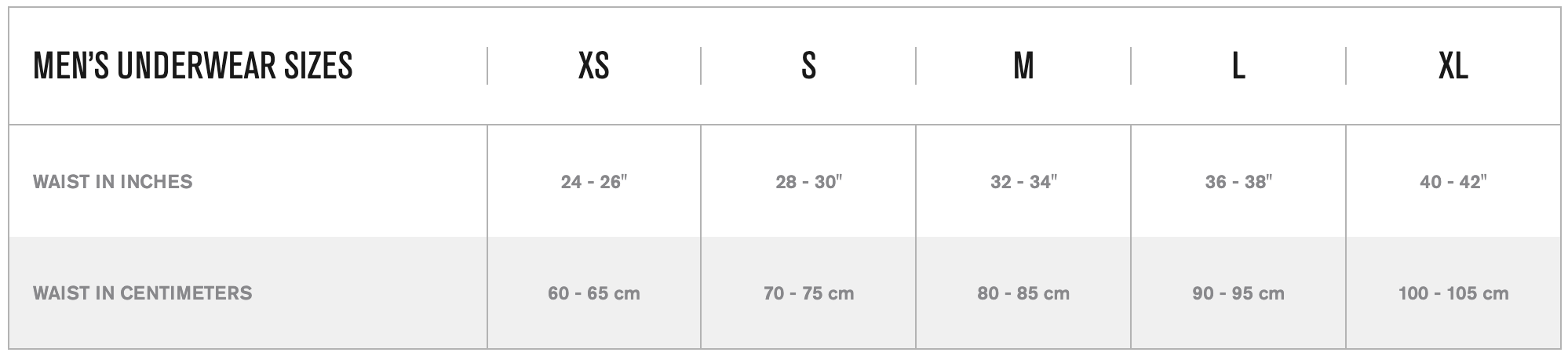 Stance Size Guide