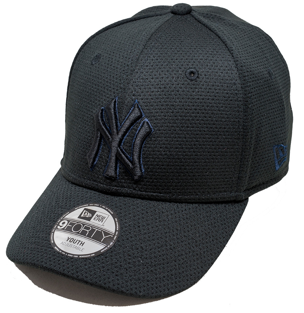 New Era 9Forty New York Yankees Mesh Youth Cap Black  6ab7b19e125