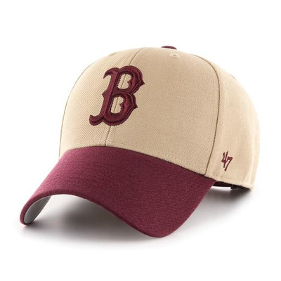 '47 Boston Red Sox MVP Two Tone Khaki Maroon Cap