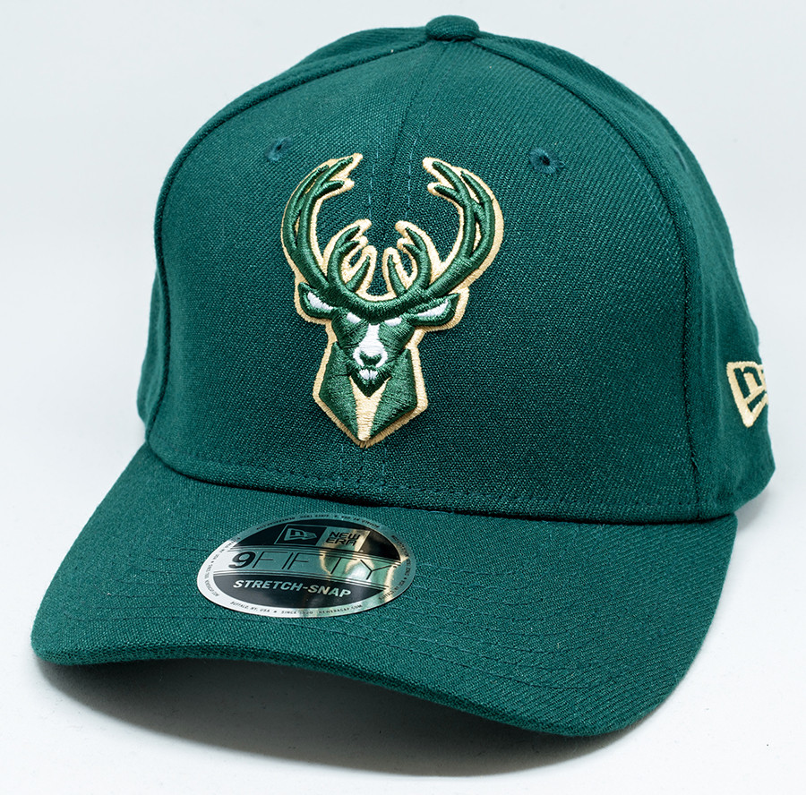 cheaper a5e72 f81f4 New Era 9Fifty Milwaukee Bucks Cap Green   Fancaps
