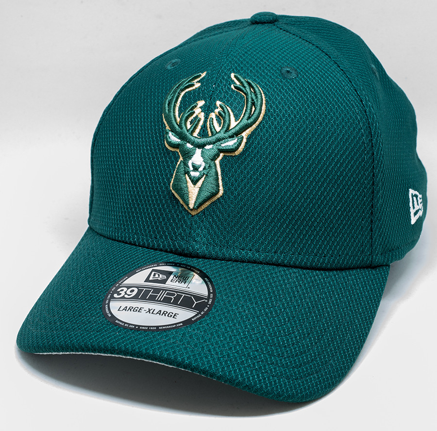 separation shoes 22af9 398d2 New Era 39Thirty Milwaukee Bucks Cap Green   Fancaps