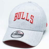 New Era 39Thirty Chicago Bulls Script Heather Grey Cap