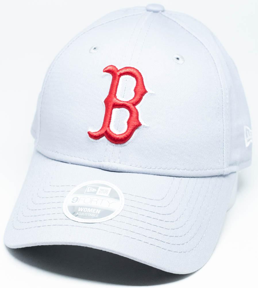 New Era 9Forty Boston Red Sox Womens Grey Cap  a0e635ac30