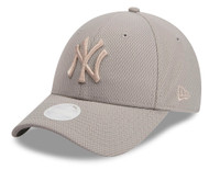 New Era 9Forty New York Yankees Grey Ladies Cap