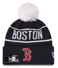 New Era Boston Red Sox Original Pom Beanie Navy White