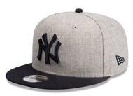 New Era 9Fifty New York Yankees Heather Grey Navy Youth