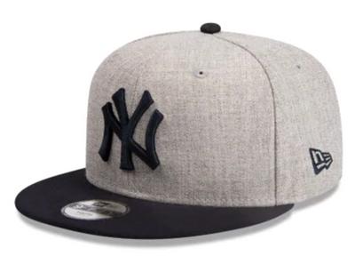 New Era 9Fifty New York Yankees Heather Grey Navy Youth