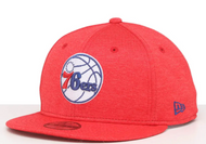 New Era 9Fifty Philadelphia 76ers Cap Red Youth