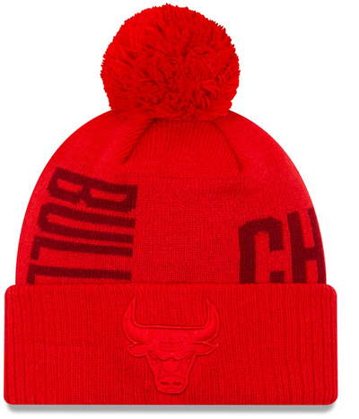 New Era Chicago Bulls Tip Off Beanie Red