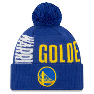 New Era Golden State Warriors Tip Off Beanie Blue
