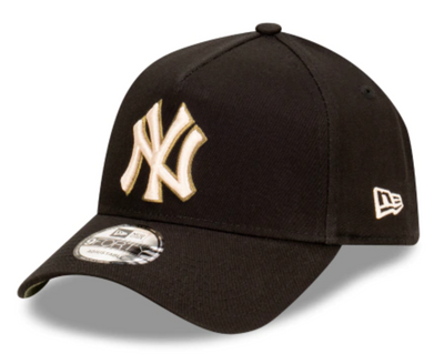New Era 9forty New York Yankees Black Olive AFrame