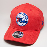New Era 9Fifty Philadelphia 76ers Stretch Snap Red Cap