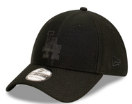 New Era 39Thirty Los Angeles Dodgers Stretch Fit Black Cap