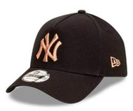 New Era 9Forty New York Yankees Ladies AFrame Black Cap