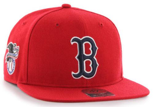 d3b7788c760 47 Boston Red Sox Sure Shot Captain Cap Red - Fancaps