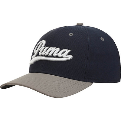 Puma Script Fitted Golf Cap Grey - Fancaps 2bdaebbb8b56