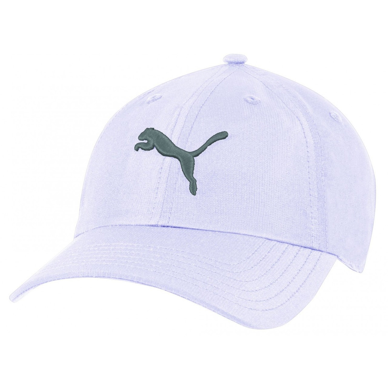 Puma Womens Cat Adjustable Cap White Silver - Fancaps ed48d3d01de