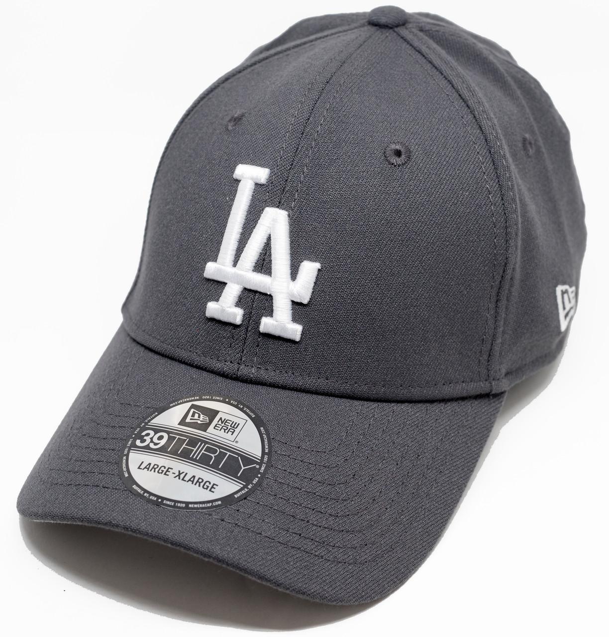 New Era 39Thirty Season Fit New Los Angeles Dodgers Cap Graphite ... 98ba950a3ddb