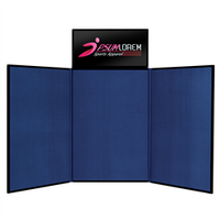 Fast Trak 6' Tri-Fold Tabletop Display with Header Graphic