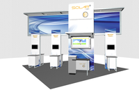 Solar E - 20' x 20' Island Trade Show Exhibit