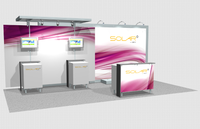 Solar A - 10' x 20' Inline Trade Show Booth