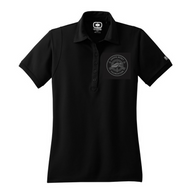 Women's Black OGIO Polo (Monochrome Logo)