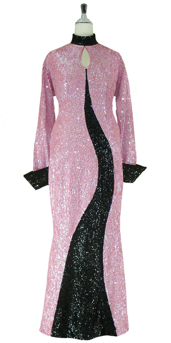 sequinqueen-long-black-and-pink-sequin-dress-front-4001-006.jpg