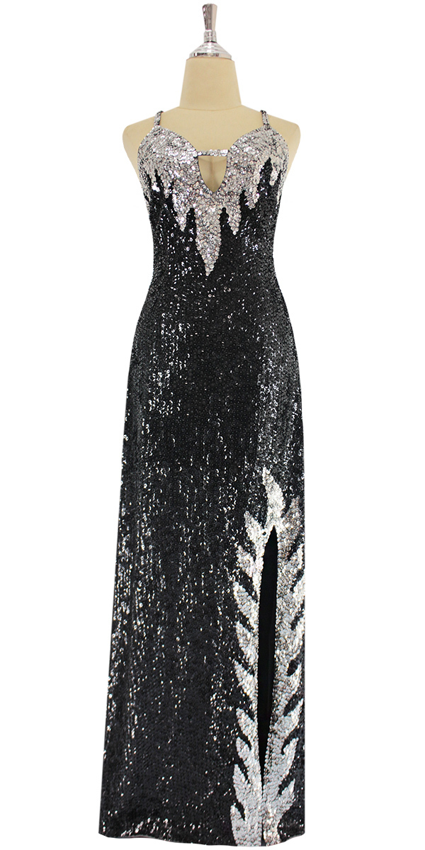 sequinqueen-long-silver-and-black-sequin-dress-front-9192-056.jpg