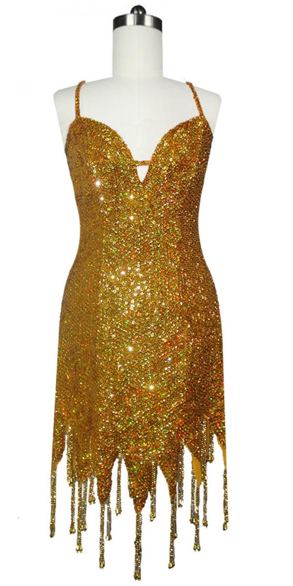 5a81f52f Short Beaded Hemline Dress   8mm Round Sequin Spangles   Hologram ...