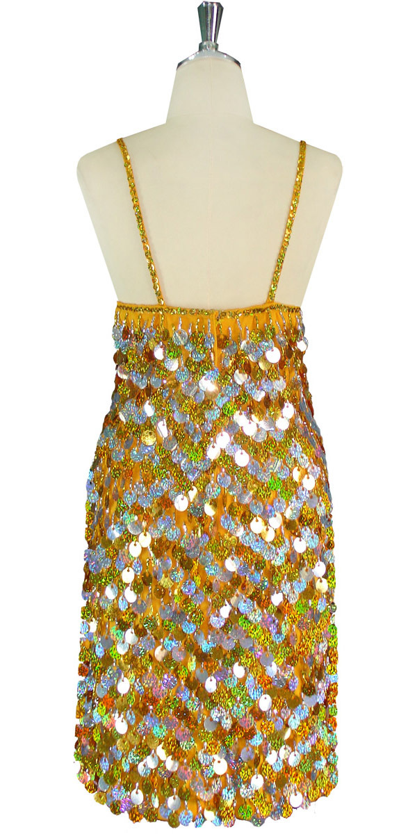 bb10033f14d Short Dress | Paillette Sequin Spangles | Hologram Silver and Gold ...