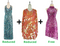 Buy 1 Long & 1 Short Handmade Dress With Discounts On Each & Get 1 Short Sequin Fabric Dress Free (SPCL-094)