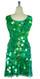 Short Handmade 30mm Paillette Hanging Iridescent Green Sequin Sleeveless Dress with U Neck back