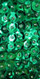 Long Cowl Back Handmade 8mm Cupped Sequin Dress in Metallic Emerald Green close up view
