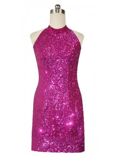 Fuchsia Short Dress