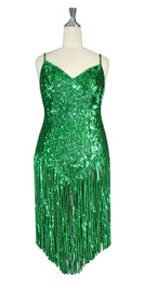 Short Handmade Sequin Dress In Hologram Green 8mm Round Sequin Spangles