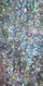 Long Cowl Back Handmade 8mm Cupped Sequin Dress in Hologram Silver close up view