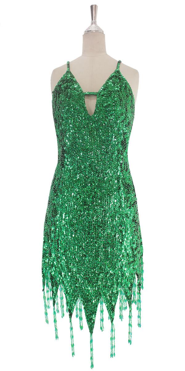 Green Sequin Dress