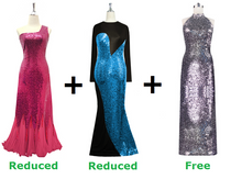 Buy Two Long Sequin Express Dresses With Further Discounts On Both And Get One Long Sequin Express Dress Free (SPCL-014)