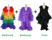 Buy 2 Long Organza Ruffle Coat with Long Sleeves With Discount Each And Get 1 Long Semi Organza Ruffle Coat Free (SPCL-029)