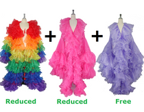 Buy 2 Organza Ruffle Coats  With Discounts On Each & Get 1 Organza Ruffle Coat Free (SPCL-053)