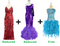 Buy 1 Long Handmade & 1 Long Sequin Fabric Dress With Discounts On Each & Get 1 Short Sequin Fabric Dress Free (SPCL-060)