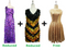 Buy 1 Long Handmade & 1 Short Handmade Dress With Discounts On Each & Get 1 Short Sequin Fabric Dress Free (SPCL-061)