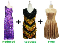 Buy 1 Long Handmade & 1 Short Handmade Dress With Discounts On Each & Get 1 Short Sequin Fabric Dress Free (SPCL-061)