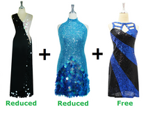 Buy 2 Handmade Sequin Dresses With Discounts On Each & Get 1 Short Sequin Fabric Dress Free (SPCL-067)